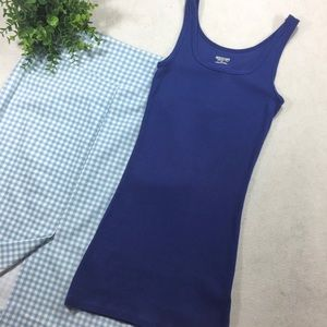 Mossimo Basic Ribbed Blue Tank Top
